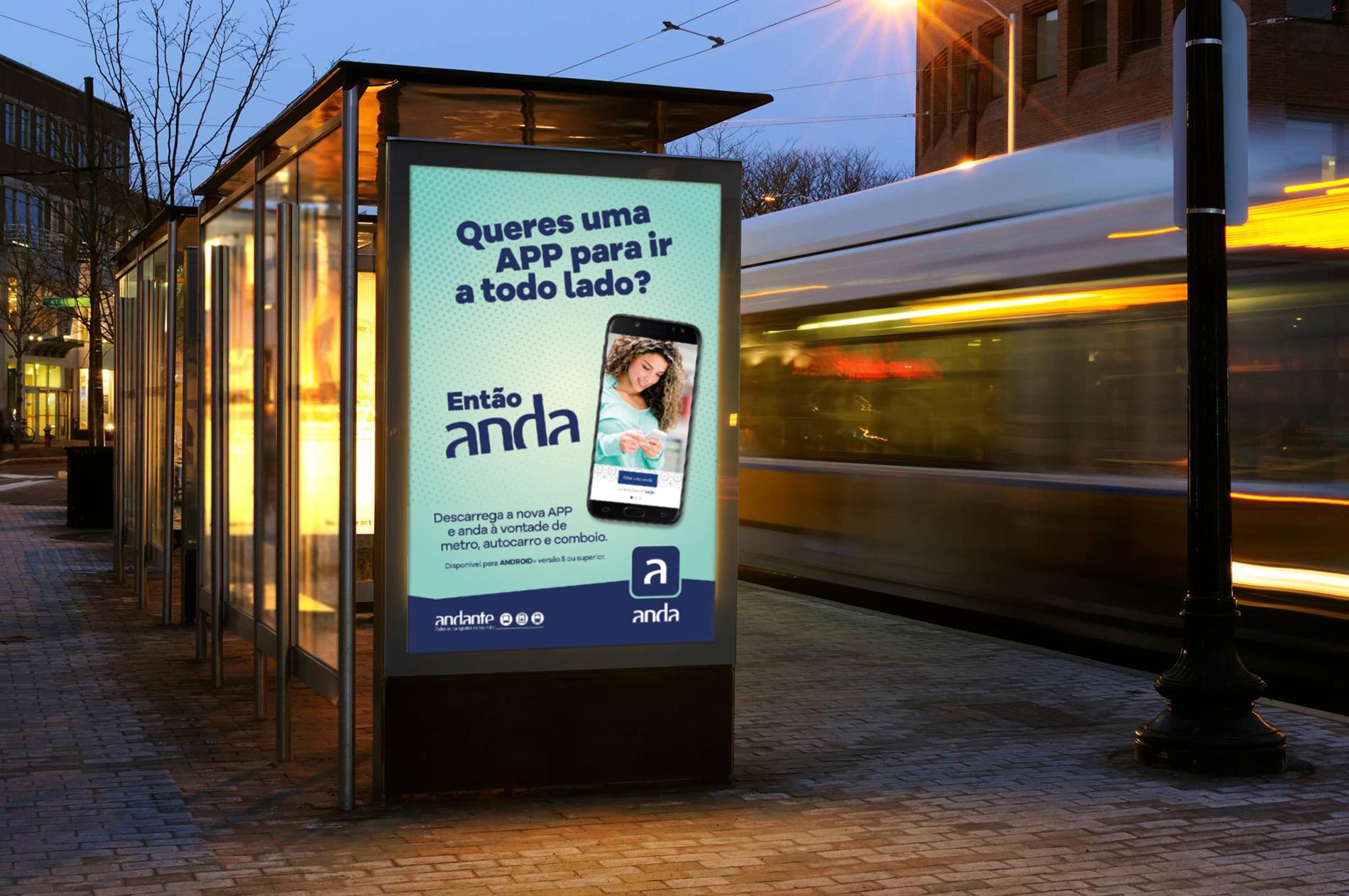 Aplicação anda_campanha de comunicação